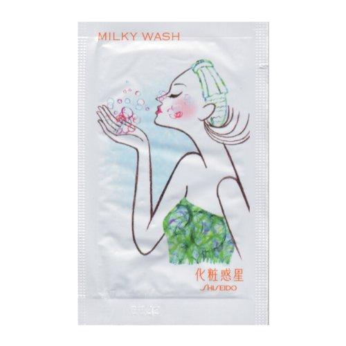 資生堂 化粧惑星 ミルキーウォッシュ 洗顔料 2g 100包