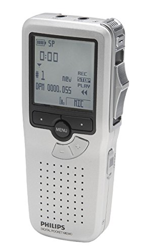 Philips LFH9380/27 Rechargeable Pocket Memo Digital Diction Recorder with Slide-Switch Operation and SpeechExec