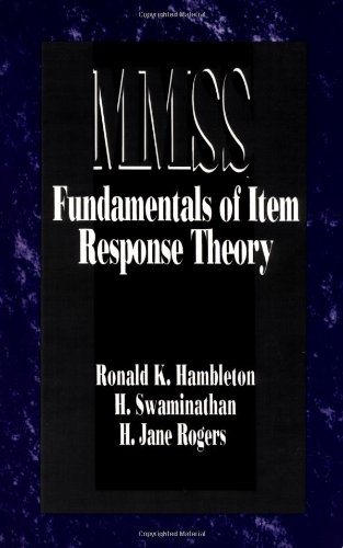 Fundamentals of Item Response Theory (Measurement Methods...