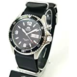 Orient CEM65001BW-Nato-Leder - Reloj de pulsera hombre, piel, color plateado