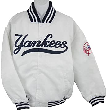 Buy New York Yankees MLB Majestic Athletic White Dugout Jacket Big and Tall Sizes by White Dugout Jacket