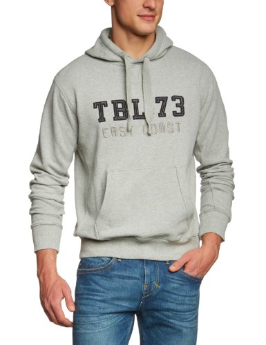 Timberland Clothing TBL Graphic Hoody Ovszd Men's Sweatshirt Medium Grey Heather (MGH) Medium