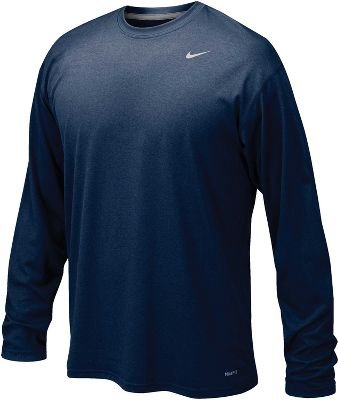 Nike Legend Long Sleeve Dri-Fit Tee T-Shirt Training Blue Size S (Blue Nike Shirt compare prices)