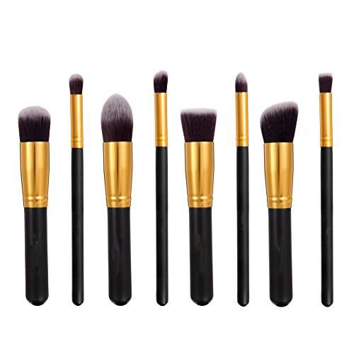 eBoTrade 8pcs Professional Cosmetic Makeup Brush Set Cosmetic Brush Set Kit for Liquid or Powder Foundation Gold Black (Sonia Kashuk Full Brush Set compare prices)