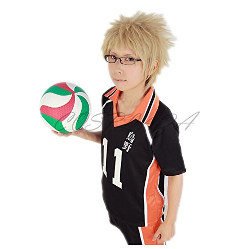 COSPLAZA Anime Cosplay Wigs Haikyuu!! tsukishima kei Short Hair