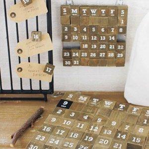 WOOD MAGNETCALENDER/ウッドマグネットカレンダー Lサイズ
