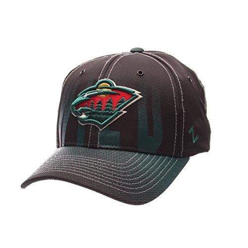 NHL Minnesota Wild Men's Static Hat, Adjustable, Black (Minnesota Wild Zephyr compare prices)