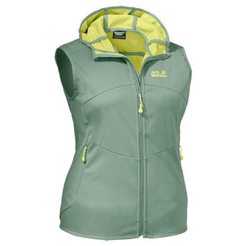 Jack Wolfskin Damen Softshellweste Sonic Dance Vest Women, Opal Green, S, 1302301-4028002