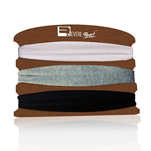 Sports Headband for Running, Yoga, Fitness, Gym, Workouts and Exercise. Stretchy & Secure fashion sweat band set for men and women