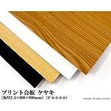 プリント合板 ケヤキ 【2.5×600×900mm】