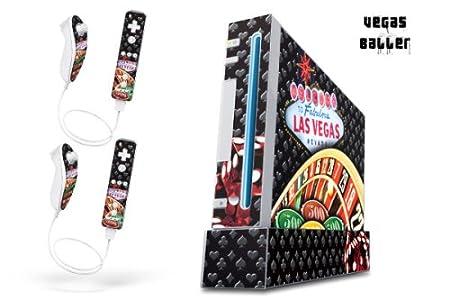 Nintendo Wii Console Skin - Vegasballer - Black