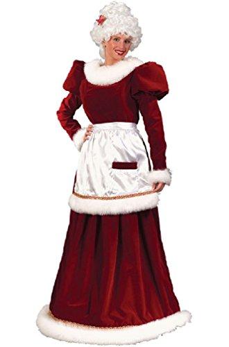 Christmas Velvet Mrs Santa Claus Adult Halloween Costume