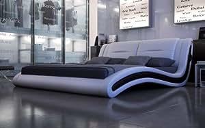 sam polsterbett bett trilium sound in wei schwarz 200 x 220 cm kopfteil im modernen. Black Bedroom Furniture Sets. Home Design Ideas