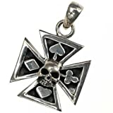 Trailer iron cross, skull poker - 925