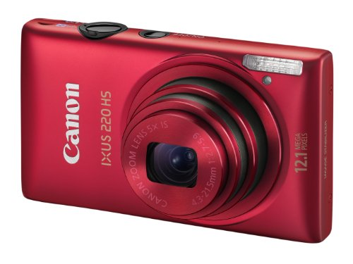 Canon IXUS 220 HS - Red (12.1MP, 5x Optical Zoom) 2.7 inch LCD
