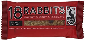 18 Rabbits Cheeky Cherry Chocolate, Organic Granola bar, 1.9-Ounce Bars (Pack of 12)