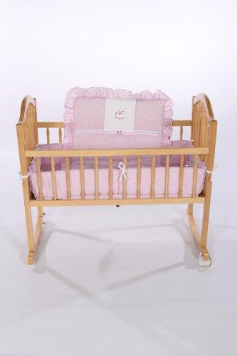 Imagen de Baby Doll Bedding guinga con Rocking Horse Applique Cuna Ropa de cama Set, Lavanda