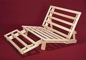 Tri-fold Hardwood Futon Frame - Twin Size