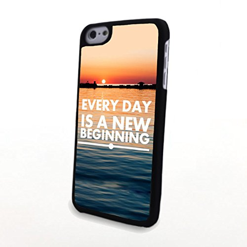 Generic Phone Accessories Matte Hard Plastic Phone Cases Quote Every Day Is A New Beginning Fit For Iphone 5C