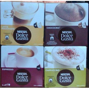 Get Nescafe Dolce Gusto® 4 Flavour Variety Pack (64 Capsules) Boxed from Dolce Gusto