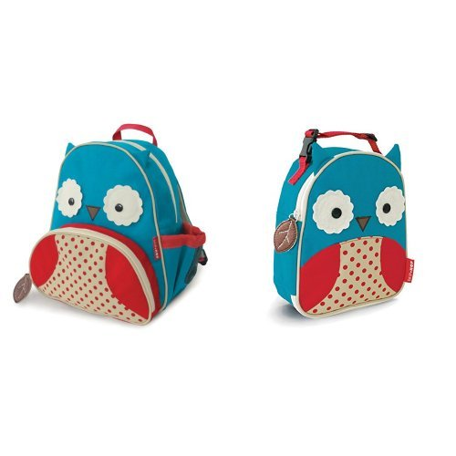 Skip Hop Zoo Backpack and Lunchie Set, Owl - 1