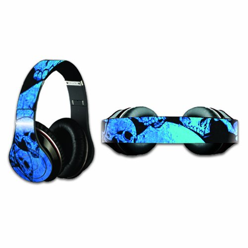 Mightyskins Protective Vinyl Skin Decal Cover For Dr. Dre Beats Studio Headphones Sticker Skins Blue Skulls