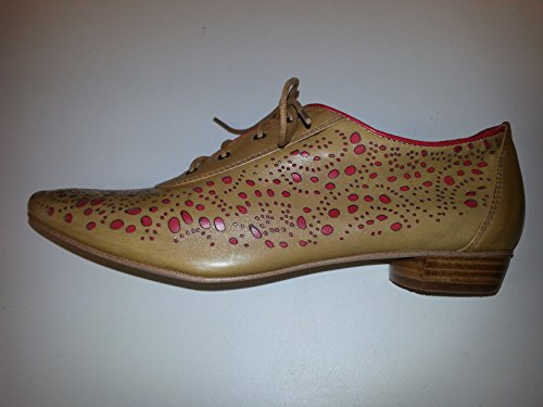 Everybody By B.Z. Moda Rilare Daino Tan With Flame Red Size 41/11