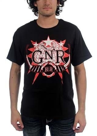 Guns N Roses - Globe Logo Mens S/S T-Shirt In Black, Large, Black