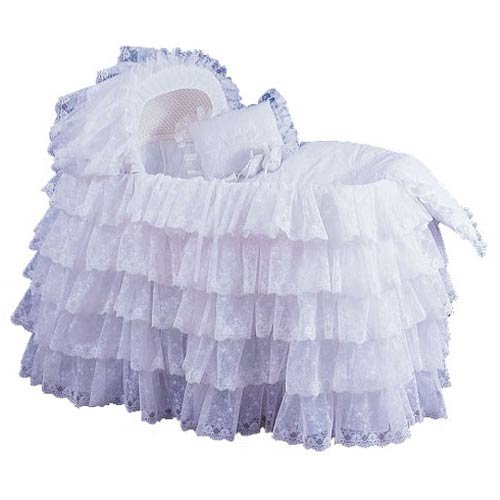 Extravaganza Bassinet Liner/Skirt & Hood - Color: White - Size: 13X29 front-964134