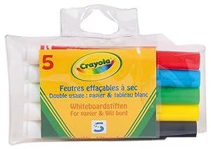 Crayola 98391 - 5 Rotuladores Papel Y Pizarra Blanca