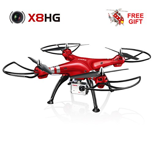 Syma-X8HG-New-Altitude-Hold-Mode-Headless-RC-Quadcopter-with-8MP-Camera-Red