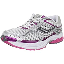 Saucony Women's Pro Grid STABIL CS2 WIDE Running Shoe,White/Silver/Pink,5 W US