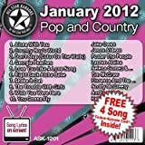 All Star Karaoke January 2012 Pop and Country Hits (ASK-1201)