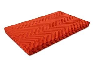 Innergy Chevron Print Memory Foam Crate Pet Mat, Large, Koi Orange