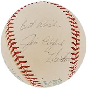 Jim Catfish Hunter Signed Baseball - Vintage Single JSA - Autographed Baseballs