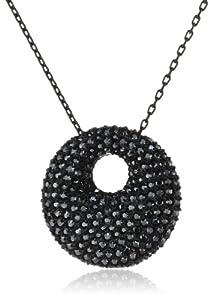 Swarovski Damen-Anhänger Metall Stone Medium Jet Hematite Kristall PVD schwarz 38 cm / 2.5 × 2.5 cm 5017147