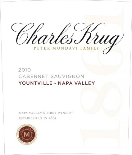2010 Charles Krug Winery Cabernet Sauvignon Yountville Napa Valley 750 Ml