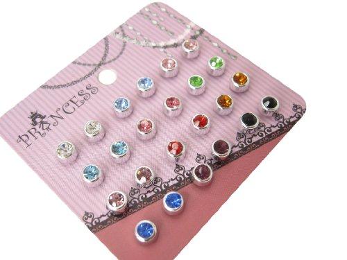 4mm Color Crystal Magnetic Stud Earrings for Kids Girl Women