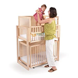 Whitney Bros Co Whitney Brothers Space Saver Two Level Crib, Natural, Wood