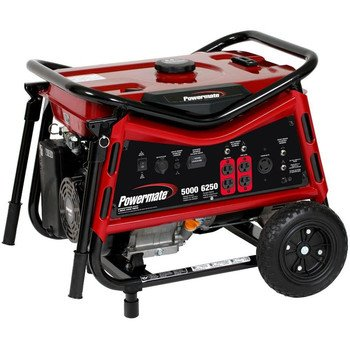 Powermate PMC105007 Vx Power Series 6,250 Watt 389cc Gas Powered Portable Generator