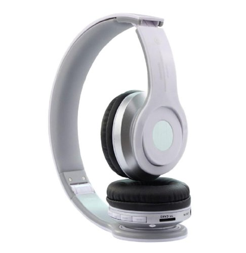 Doinshop Foldable Wireless Bluetooth Stereo Headset Mic For Iphone Samsung Htc (White)