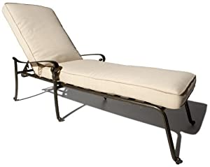Strathwood St Thomas Cast Aluminum Chaise Lounge Chair Patio