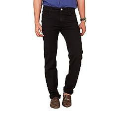 Carrie Men's Regular Fit Jeans (CJ_B206_Black_44)