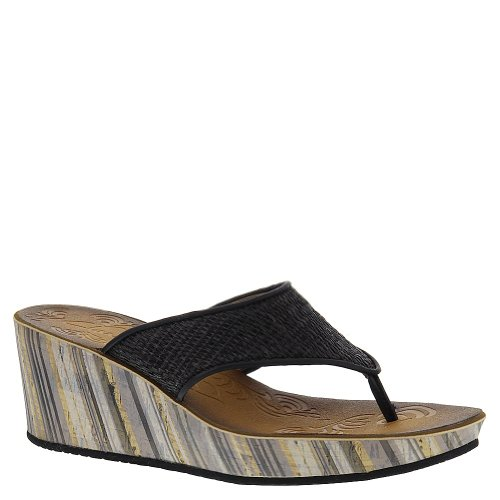 Clarks Women's Mimmey Rida Wedge Sandal,Black,6 M US