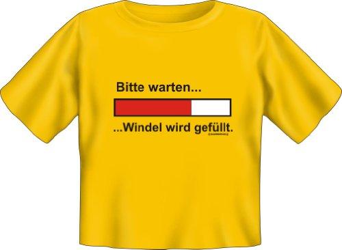 Baby-Shirt Grössen S-M-L Bitte Warten, Windel wird gefü