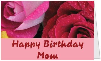 Birthday Mom Flowers Mother Beautiful Greeting