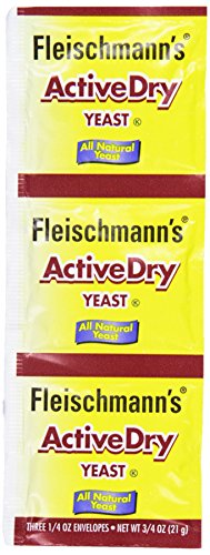 Fleischmann's Active Dry Yeast, 3 pk, 0.75 oz Packet (Yeast For Baking compare prices)