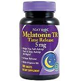 メラトニン含有量でお選び下さい。1mg?10mg ゆっくり溶けて、8時間効き続けるメラトニン5mg ナトール メラトニン TR タイム・リリース(100日分)