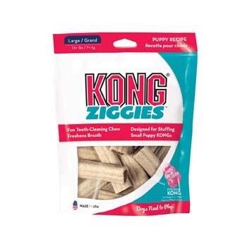 Kong Puppy Ziggies, 6-Ounce, Large, 4 Per Pack