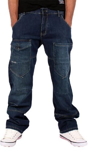ecko-uomini-ragazzi-daimler-vestibilita-comoda-stile-jeans-hip-hop-cotone-blu-80-cotone-20-poliester